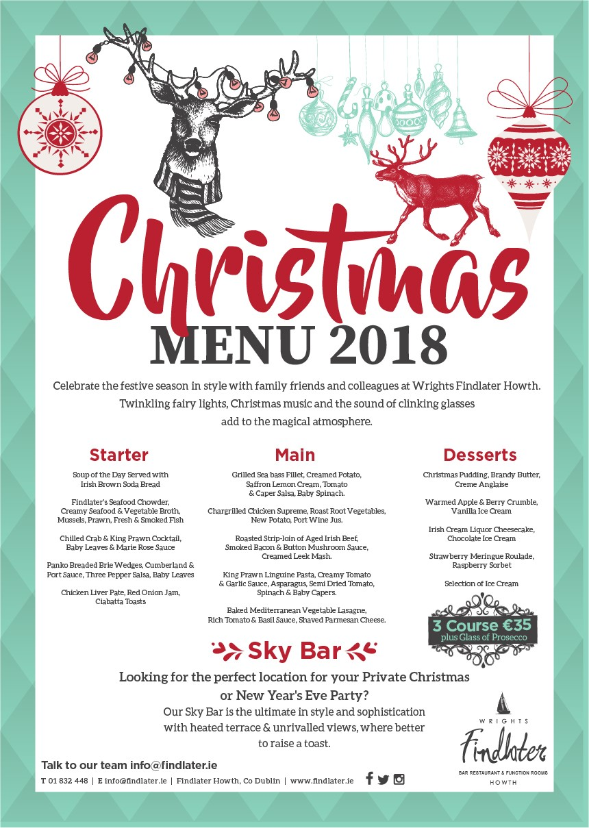 Wrights Findlater Howth Caf 233 Bar Amp Restaurant Christmas